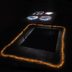 shrine of the Shattered vessels_tal_yizrael_projection_glass steel